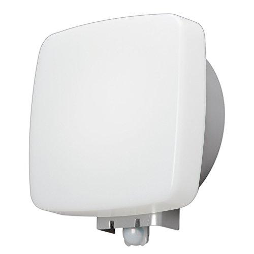 アイリスオーヤマ LEDポーチ灯 人感センサー付 角型 昼白色 520lm IRBR5N-SQPLS-MSBS