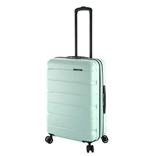 Rada 65cm Reise Koffer Trolley Ultra Robust ABS-Material, 60 Liter, Hartschalen Gepäck mit 4 360° Rollen, TSA-Schloss, Volumen ERWEITERBAR, Teleskopgestänge, Unisex (Mint)