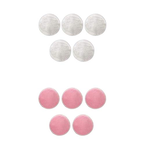 Baoblaze 10pcs Tampons Démaquillants Réutilisables Nettoyage Visage Accessoire Beauté