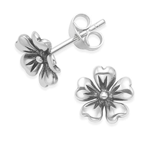Heather Needham Sterling Silver flower Earrings, Flower Stud Earrings - SIZE:8mm. Gift Boxed 5191