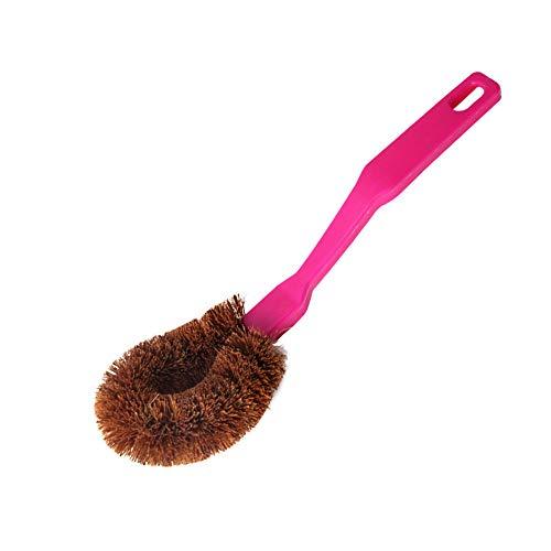 Cepillo Plumero Plumero Mango largo de coco cepillo para lavar el cabello cepillo de cáñamo de fibra cepillo de olla cepillo cocina cepillo de limpieza mango largo cepillo de maceta de pelo ma
