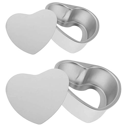XYDZ En Forma de Corazón Molde de Pastel en Vivo, 6/8 Pulgadas Hogar Cocina Molde para Hornear Bandeja de Pastel Molde para Pastel en Forma de Corazón Aluminio Anodizado