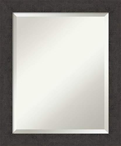 Framed Vanity Mirror | Bathroom Mirrors for Wall | Rustic Plank Espresso -