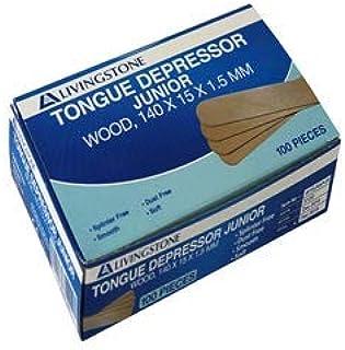 Livingstone Extra Wide Tongue Depressor Wood, Non-Sterile - 150 x 17 x 1.6 mm 100 per Box