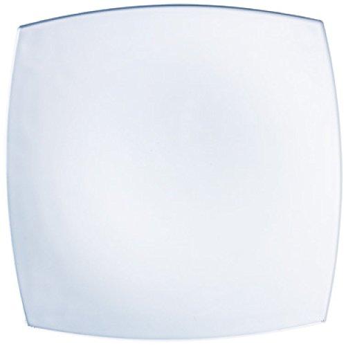 ARC J0592 Assiette carrée en Verre Blanc