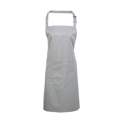 Schlichte Kochschürze mit Taschen, Erwachsene, Unisex, Baumwollmischgewebe, in verschiedenen Farben erhältlich