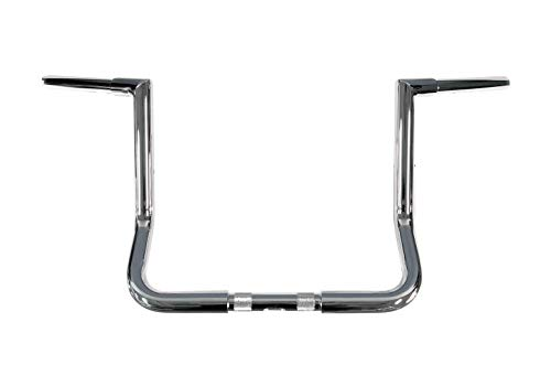 Dominator Industries 1 1/4' Chrome 12' Miter Monkey Bar Ape Hangers Handlebars Compatible With 1996-2020 Harley-Davidson Bagger Touring Electra & Street Glide Ultra With Or W/O Heated Grip LA-7361-12