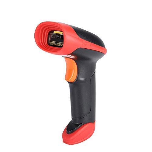 Scanner sans Fil 2D Barcode Compatible avec 2.4G sans Fil de Connexion Filaire, Connexion Mobile Pos, Ordinateur Portable, CCD Lecteur de Code Barre, avec récepteur USB