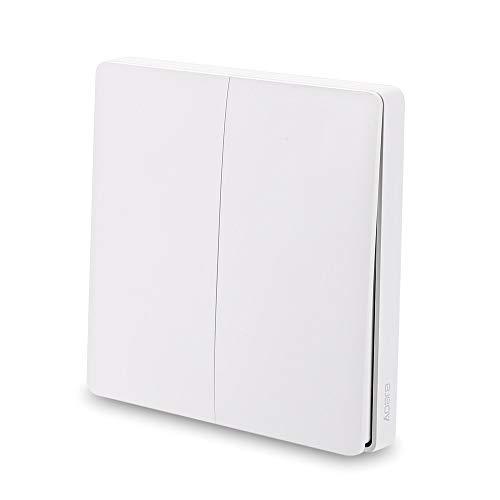 Interruptor de pared Blusea Aqara, timbre de puerta inteligente, interruptor de control de luz WiFi 2,4 GHz, mando a distancia inalámbrico Home Kit de Mi Home App (DoubleKey), 2