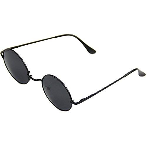Gafas de sol de moda personalizadas para hombre joven de la vendimia de los hombres de las mujeres de las gafas de sol hippie retro redondo de metal gafas gafas