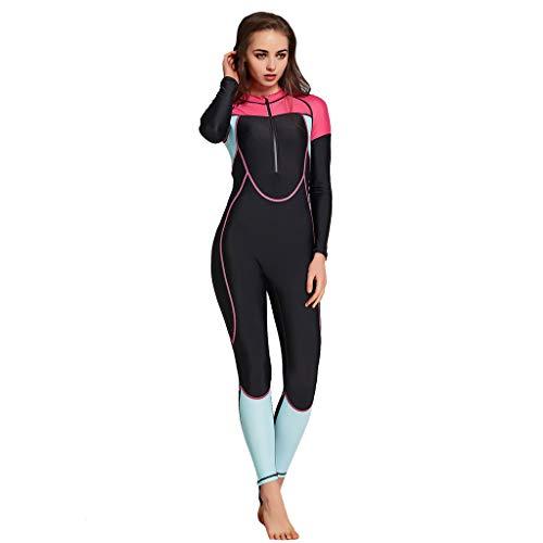 Allence Dünner Neoprenanzug für Herren und Damen Stoff Ganzkörper Lang Ärmel UV-geschützt Rash Guard Badeanzug Badebekleidung Wassersport Anzug für Schnorcheln Tauchen Schwimmen Surfen