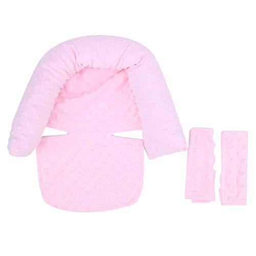 Cojín del asiento del cojín del cochecito infantil Inserto del asiento de coche infantil para los bebés(Light pink, Baby headrest)