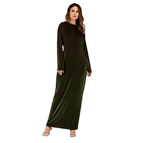 Dasongff moslime kleding Abaya effen etui jurk robe basic casual vrijetijdsjurk uitgebuild lang maxi jurk Dubai kleding