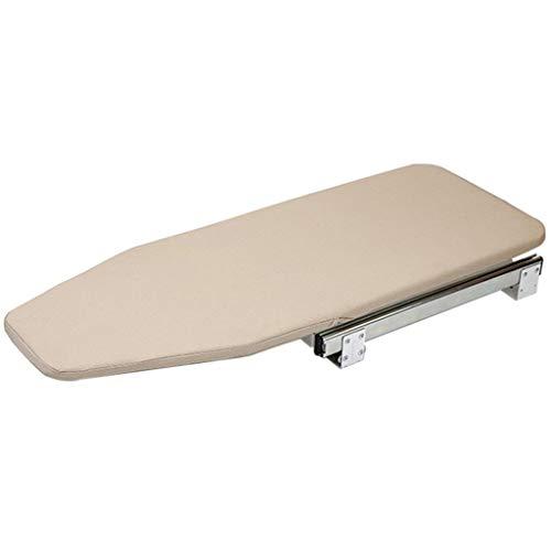 Bove Tabla de Planchar retráctil para el hogar, cajón extraíble fácil de Instalar Resistente a Las Quemaduras Cierre de la Tabla de Planchar pequeña con Tapa Oculta de Madera-Un