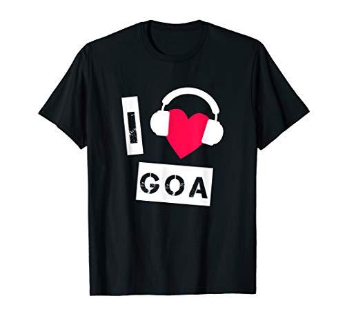 Goa Psytrance Techno Rave Raver DJ Festival ICH LIEBE GOA T-Shirt