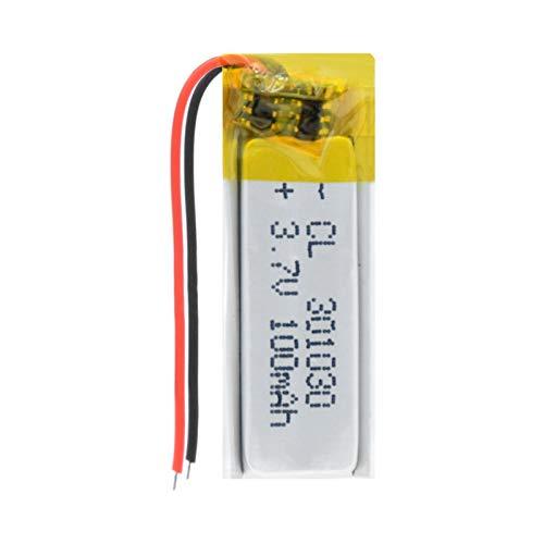 HTRN 301030 3.7v 100mah Batería Recargable De PolíMero De Litio, para Auriculares Bluetooth, BolíGrafo De Grabación, Pulsera Inteligente 1Pc