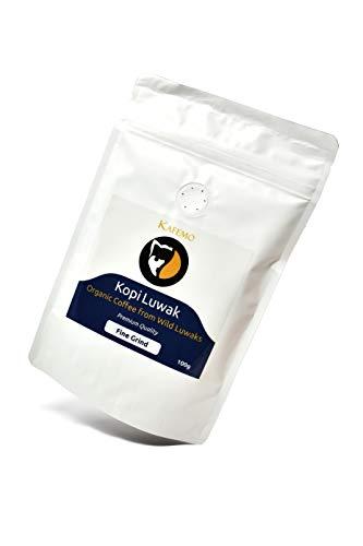 Kopi Luwak Premium (Kaffee von freilebenden Tieren) - Gemahlener Espresso Kaffee - Die seltensten Kaffee der Welt -
