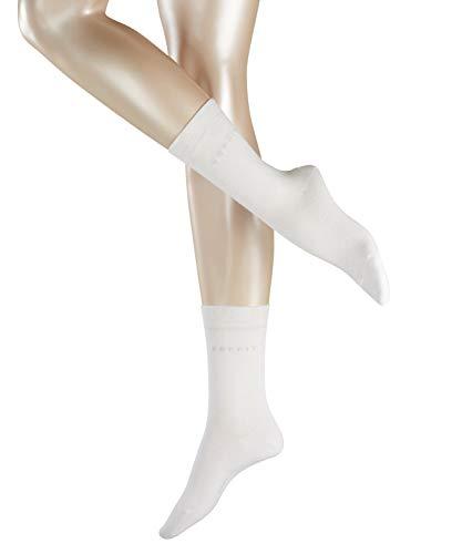 ESPRIT Damen Socken Basic Easy 2er Pack - 80% Baumwolle , 2 Paar, Weiß (White 2000), Größe: 39-42