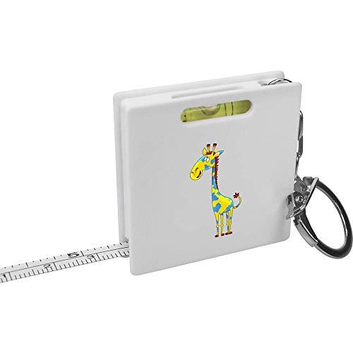 Azeeda 'Gemalte Giraffe' Schlüsselring-Maßband / Wasserwaage (KM00016314)