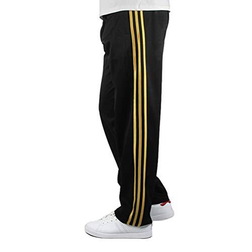 Feidaeu Herren Jogginghose Side Vertical Stripes Lose Version Fitness Laufen LäSsige Sporthose Trainingshose