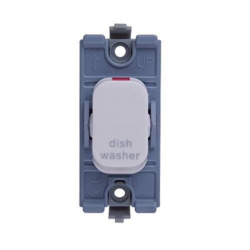 Schneider Electric GGBL20DPDWW Lisse 2-polige schakelaar voor vaatwasser, 20AX, wit