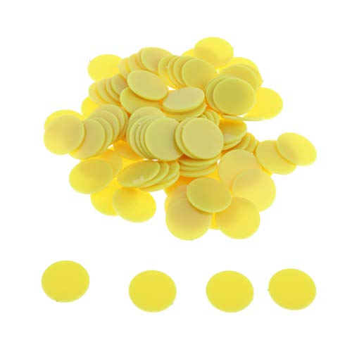 yotijar 100 fichas de plástico ABS de 25 mm para póquer, bingo, juegos de mesa, contador y marcadores