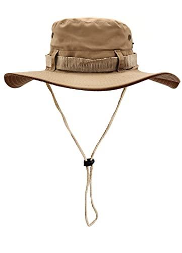 Sombrero del Pescador Plegable para Hombre Mujer, Gorro de Protección Solar UPF 50 de ala Ancha,...