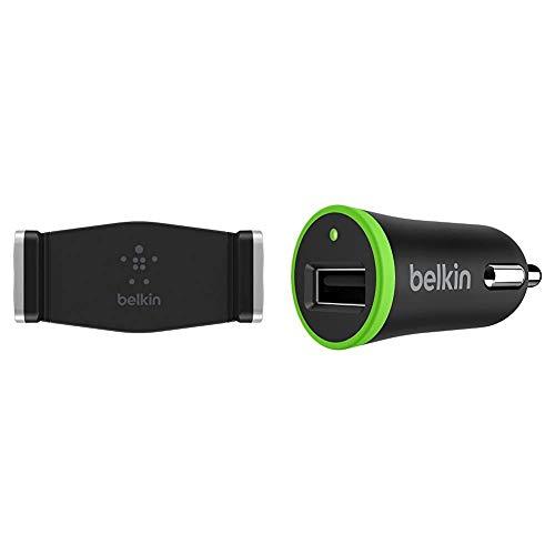 Belkin Soporte para Rejilla de ventilación de Coche, iPhone12, 12Pro, 12Pro MAX, 12 Mini, 11, 11 Pro + F8J054btBLK - Cargador para Coche 12 W