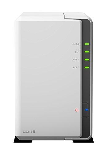 Synology DS218j DiskStation NAS-Server 2-Bay Desktop Server, Kapazität:4.000GB (4TB), HDD Typ:WD Red