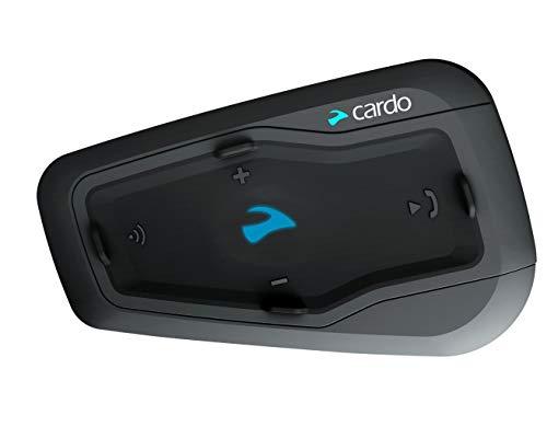 CARDO FRC2P001 freecom 2 Plus-Sistema de comunicación Bluetooth bidireccional para Motocicleta con Audio HD to Rider (Paquete único), negro, Individual