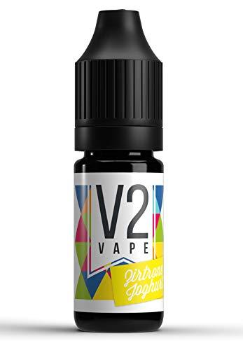 V2 Vape Zitrone-Joghurt AROMA / KONZENTRAT hochdosiertes Premium Lebensmittel-Aroma zum selber mischen von E-Liquid / Liquid-Base für E-Zigarette und E-Shisha 10ml 0mg nikotinfrei