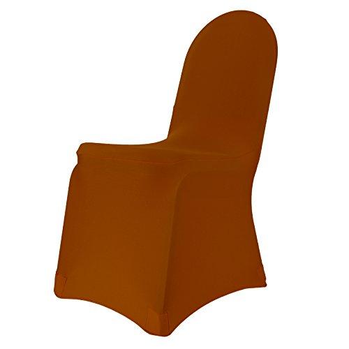 Stuhlhusse Stretch CARAMELBRAUN bügelfrei, Stuhlbezug, Stuhlüberwurf, Universal