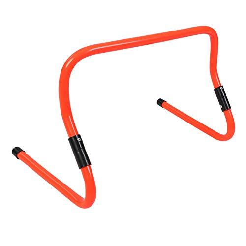 Pwshymi Vallas de Entrenamiento de Velocidad de fútbol con Vallas Altura Ajustable 15/30 cm Accesorio de Entrenamiento de Agilidad de Velocidad de fútbol(Naranja)