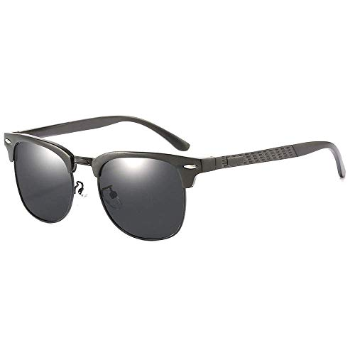 CDNS Gafas de Sol Hombres Neutral Conducción Gafas de Sol Deportes Ciclismo Pesca Al Aire Libre Playa Playa Polarizadas Gafas de Sol Uv400 Protección Uv Anti-Mareos Clásico/Negro
