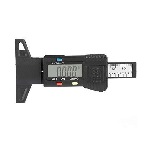 Rough La banda de rodadura medidor de profundidad LCD de la pisada del neumático del calibrador digital profundidad del neumático calibrador de medición del inspector de motos coches probador pastilla
