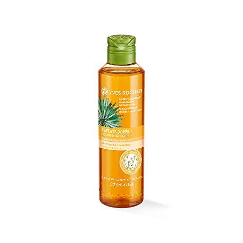 Yves Rocher PFLANZENPFLEGE HAARE Shampoo Blondreflexe, Haar-Shampoo für blondes Haar, mit Kamille, 1 x Flacon 200 ml