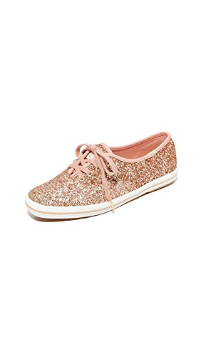 Keds Women's x Kate Spade New York Glitter Sneakers, Rose Gold, 6.5 Medium US