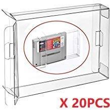 WiCareYo 20pcs EU JP PAL Wagen Module Fit Patronenhülsenschutz Game Protector Boxen Hülle für Super Famicom SNES Cartridge EU JP Version