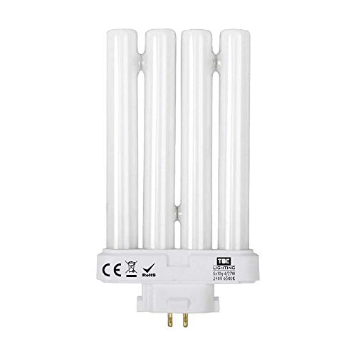 TBE Lighting Leuchtstoffröhre 27 W, Ersatz für natürliches Tageslicht/Sonneneinstrahlung /, 4-polig, GX10Q-4, Vierfach-Röhre