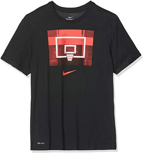 Nike Herren M NK Dry Tee Backboard T-Shirt, Schwarz (Black Aj9649-010), XL