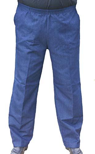 CK Sportswear The Senior Shop Men's Full Elastic Waist Denim Pull on Jeans L/30