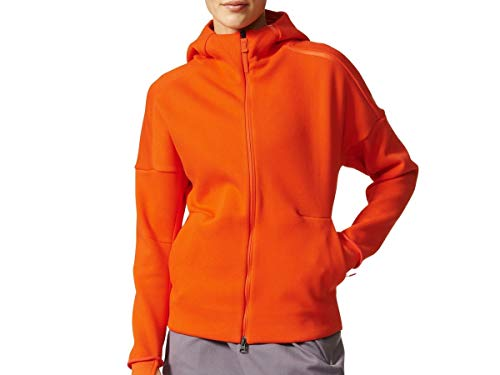 adidas Women Athletic-Wear ZNE Hoodie in Orange - B46938 (XL)