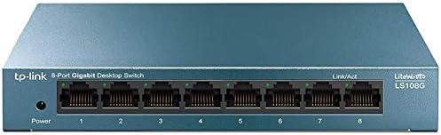 TP-Link Switch Gigabit 8 ports RJ45 (LS108G) Métal 10/100/1000 Mbps, Switch Ethernet idéal pour étendre le réseau câb...