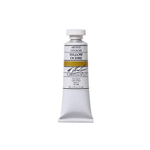 M. Graham 1/2-Ounce Tube Gouache Paint, Yellow Ochre