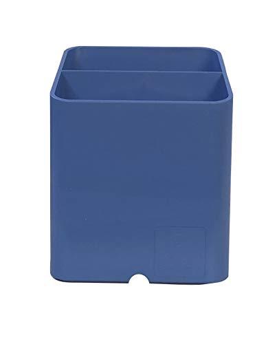 Exacompta エグザコンタ PEN-CUBE ペンキューブ クリーンセーフ 抗菌 ペン立て ブルー 677100D オーストリア製