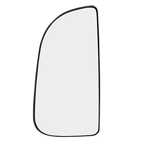 Driver Side Tow Mirror Glass with Base Outer Replacement for 09-18 Ram Pickup