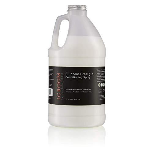 iGroom Spray acondicionador 3-1 de silicona para mascotas – Hidratante y desenredante, 1.8L
