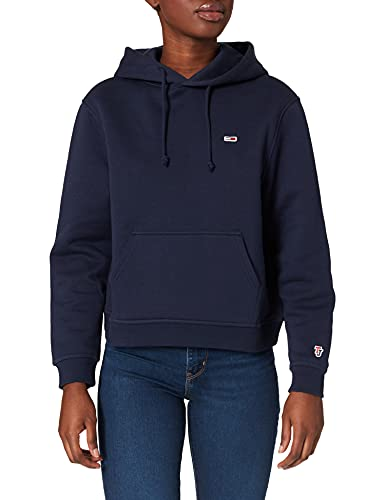 Tommy Jeans Tommy Classics Hoodie Sudadera con Capucha, Azul (Black...