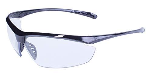 Global Vision Eyewear Tenente Occhiali di Sicurezza con Cornice Nera e Lenti Trasparenti Lucide
