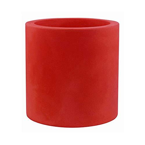 Vondom cilinder bloempot, diameter 80 cm, hoogte 80 cm, rood
